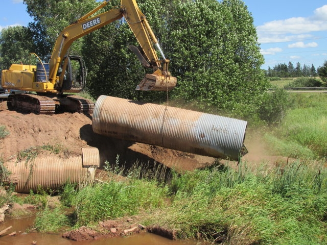Fish culvert removal
