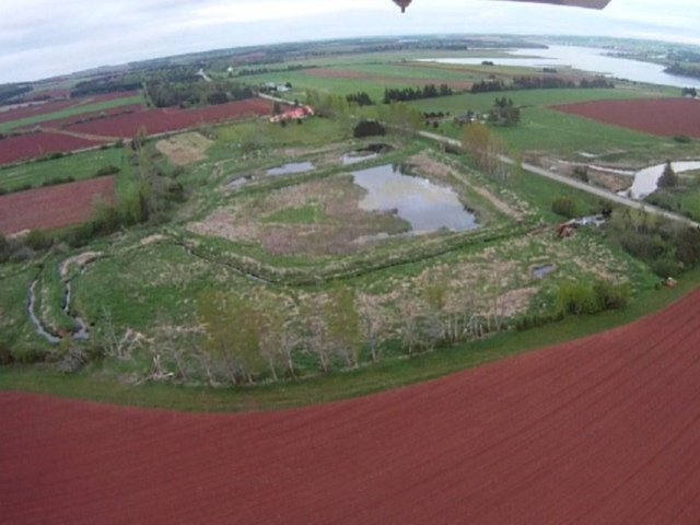 Aerial view of site, May 2013. Credit: Ron Huybers